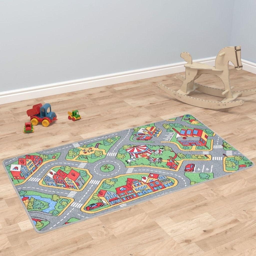 Play carpet loop pile 90 x 200 cm City road pattern