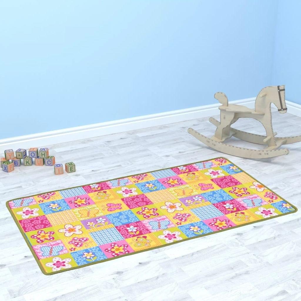 Playmat in Bouclé 133x180 cm with Butterfly Pattern
