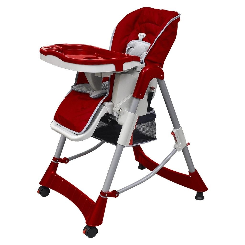 Red burgundy chair height adjustable deluxe