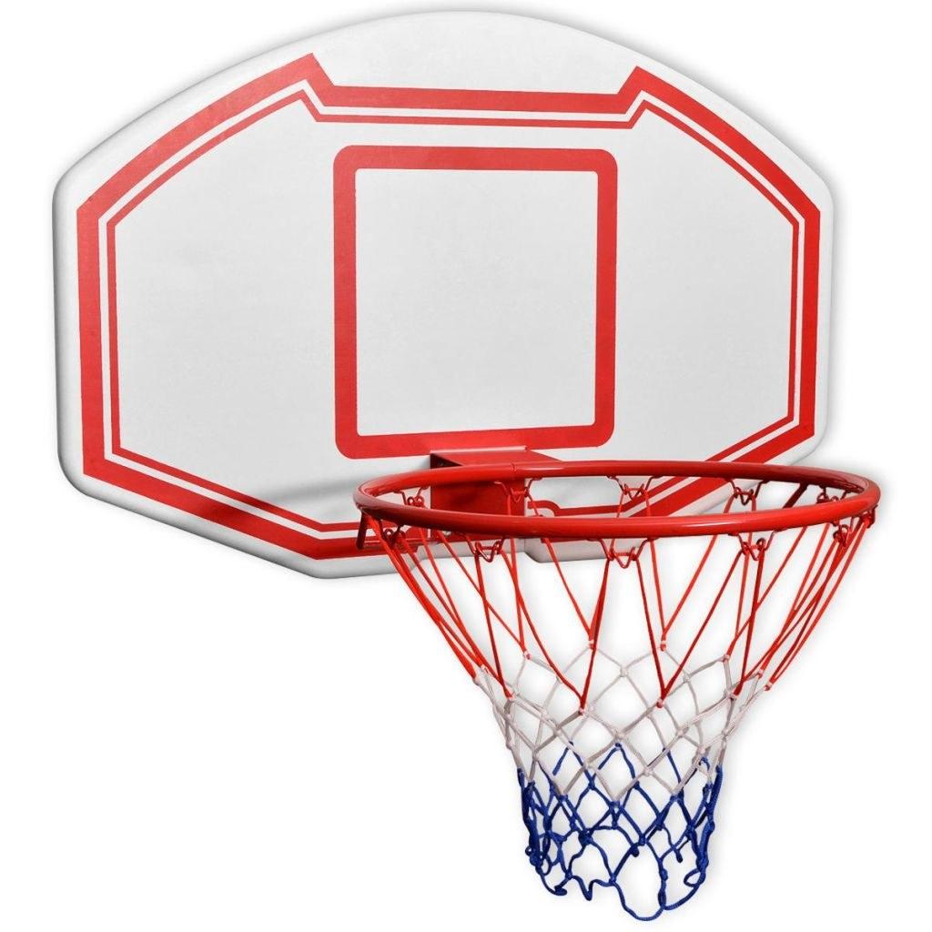 Three-piece wall basketball basket set 90x60 cm