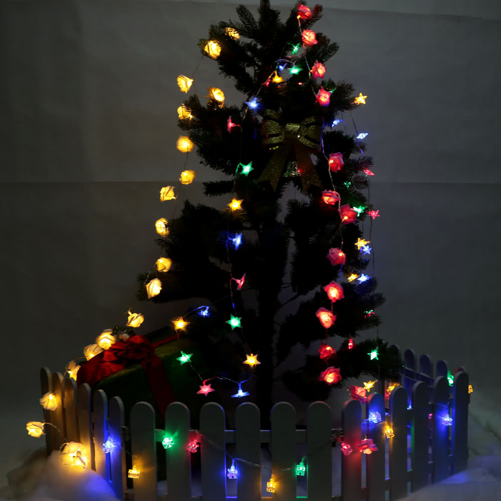 2.1M 20 LED Multi Color Five-pointed Stereo Star Lamp Fairy String Light for Party Wedding Christmas Home Room Decor Gift