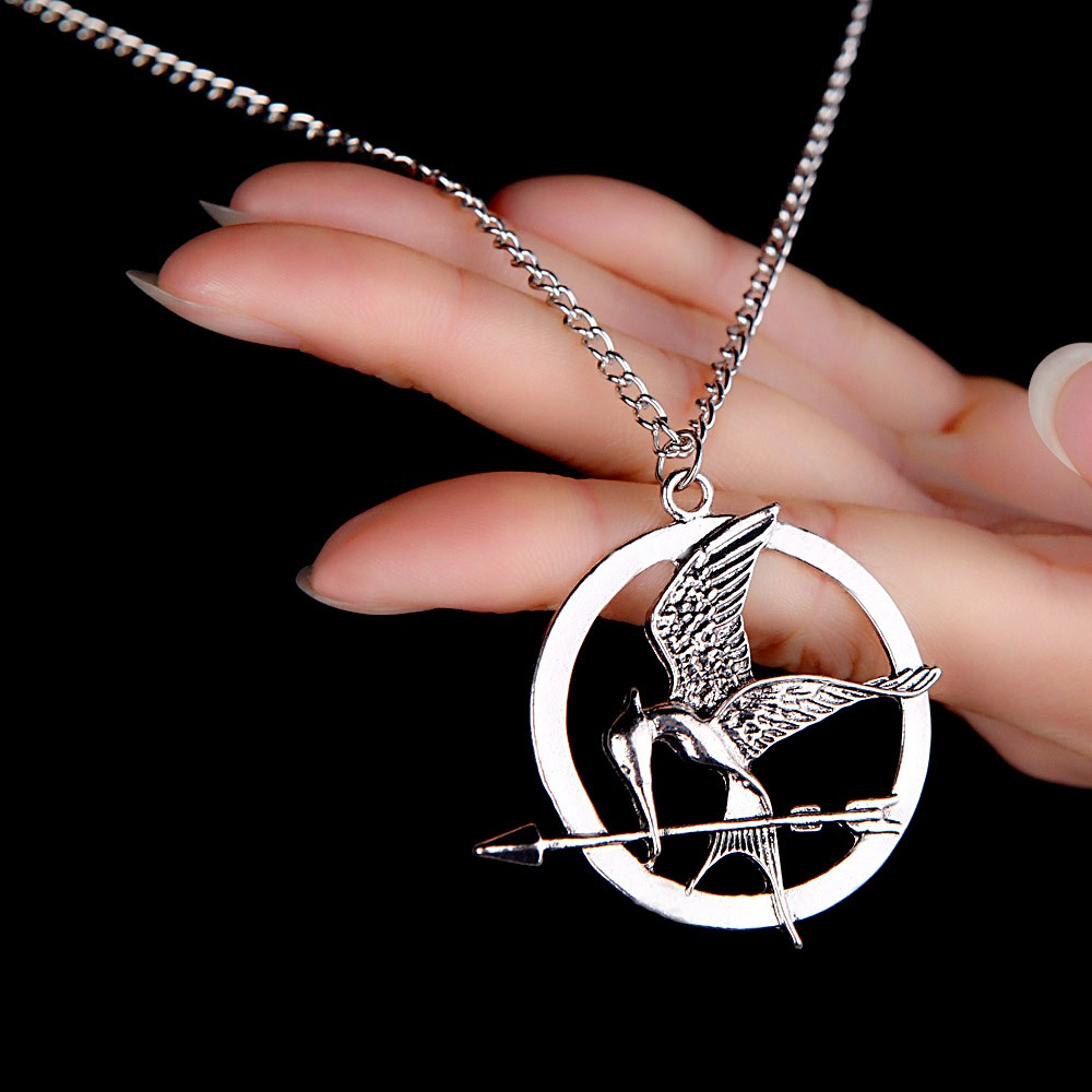 Personalized Vintage Retro Punk Style Hunger Games Bird Pendant Collar Necklace Jewelry Accessory