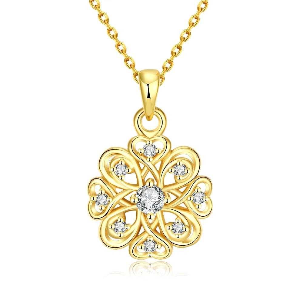 N030-CHigh Quality zircon necklace Fashion Jewelry Free shopping 18K gold plating necklace