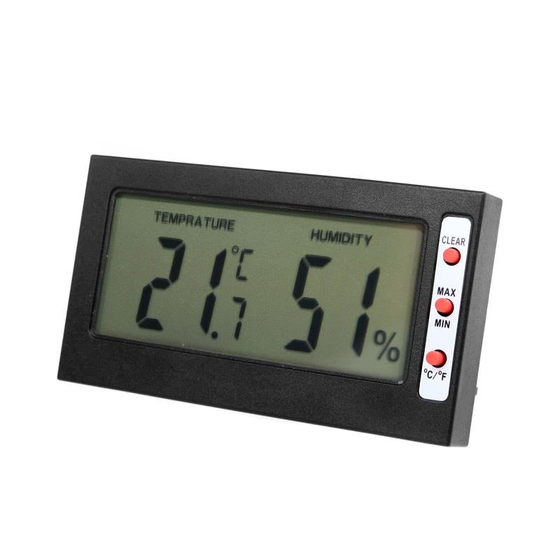 Digital LCD C/F Thermometer Hygrometer Max Min Memory Celsius Fahrenheit
