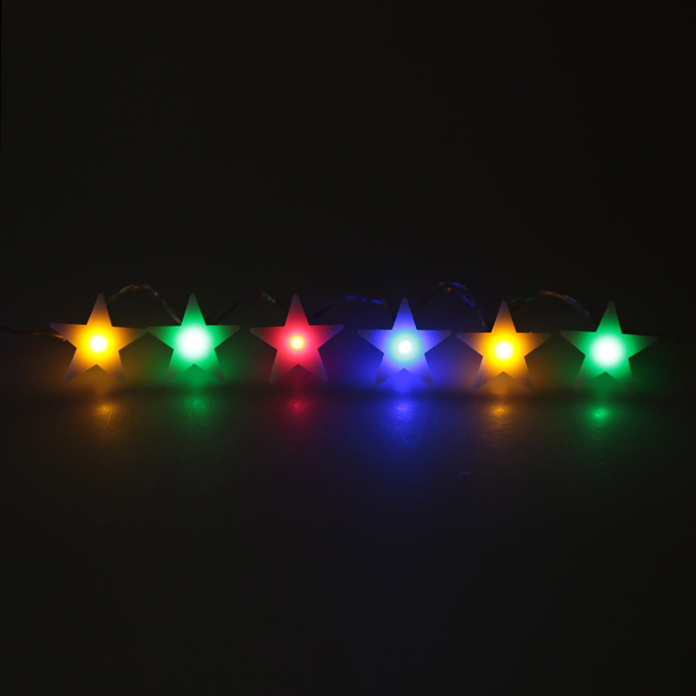 2.1M 20 LED Multi Color Five-pointed Flat Star Lamp Fairy String Light for Party Wedding Christmas Home Room Decor Gift