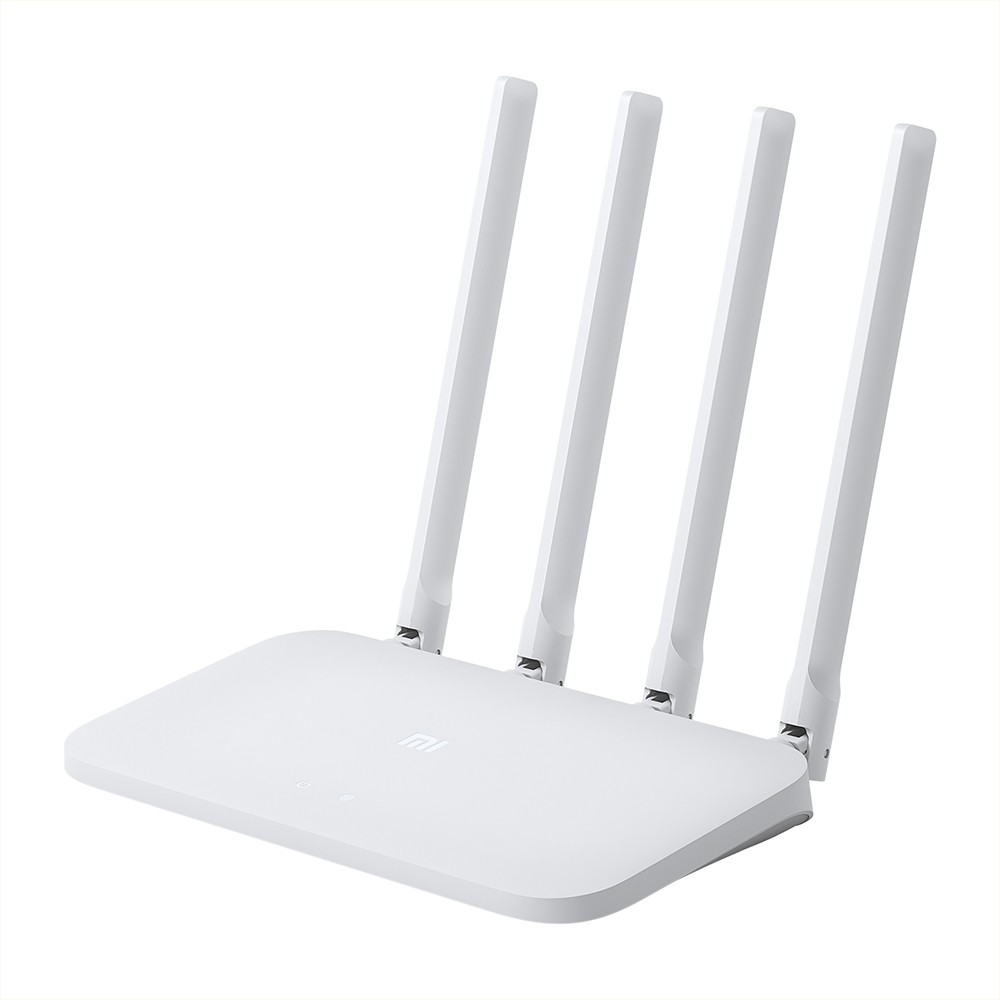 Xiaomi Wireless Router Smart Control High Speed Wide Coverage WiFi Internet Router 64MB 300Mbps with 4 High-gain Antennas for Home Office White