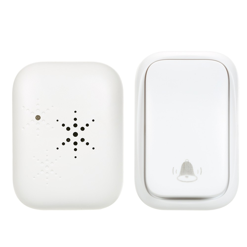 Wireless Door Bell Doorbell Mini Waterproof Doorbell Kits Battery Free Chime Operating at 500 Feet with 38 Melodies 3 Volume Levels & Indicator Light