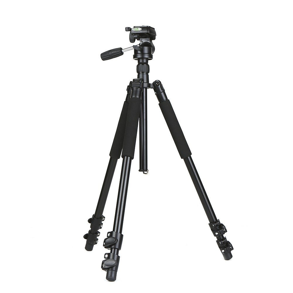 Professional DSLR Aluminum Alloy Camera Tripod Monopod with 360 Panorama Ball Head Quick Release Plate 3-Section Telescoping for Nikon Sony DSLR Camera Max. Height 67 Inch Max. Load 15kg
