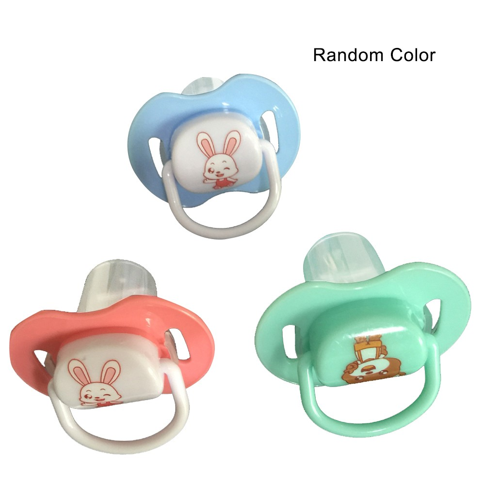 Safe Food-grade Silicone Pacifier Cute Cartoon Printed Pattern Baby Nipple Soother for Baby Infant Newborn Type 1(Random Color)