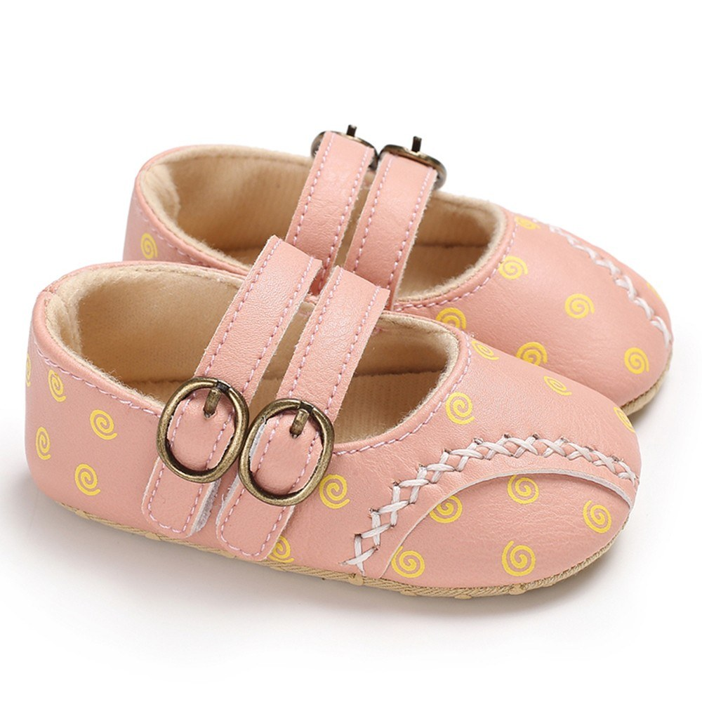 Baby Boys Girls Shoes PU Leather Soft Sole Non-Slip Prewalker Toddler Shoes Moccasin For Spring Fall Pink 12cm