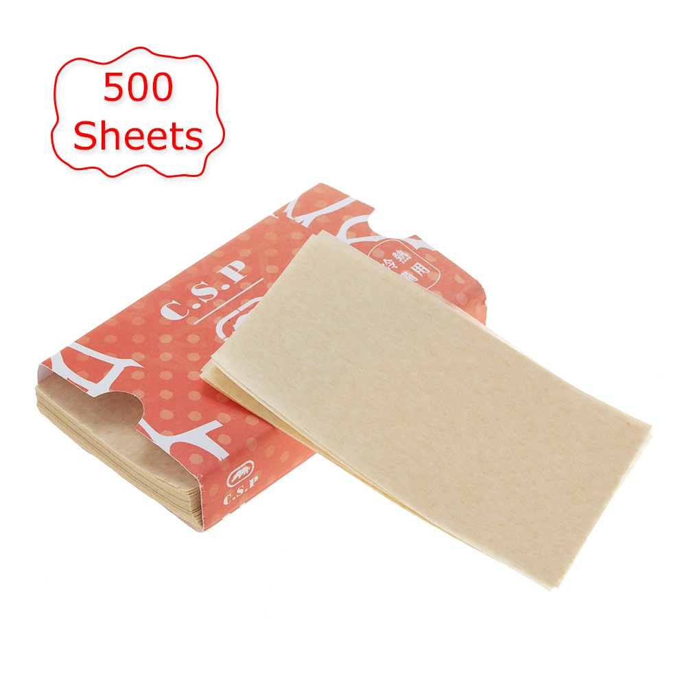Perm Papers for Hair Perm Rods Salon Hair Dye Paper Barber Tissue for Hot & Cold Hair Perming Tool 500 Sheets