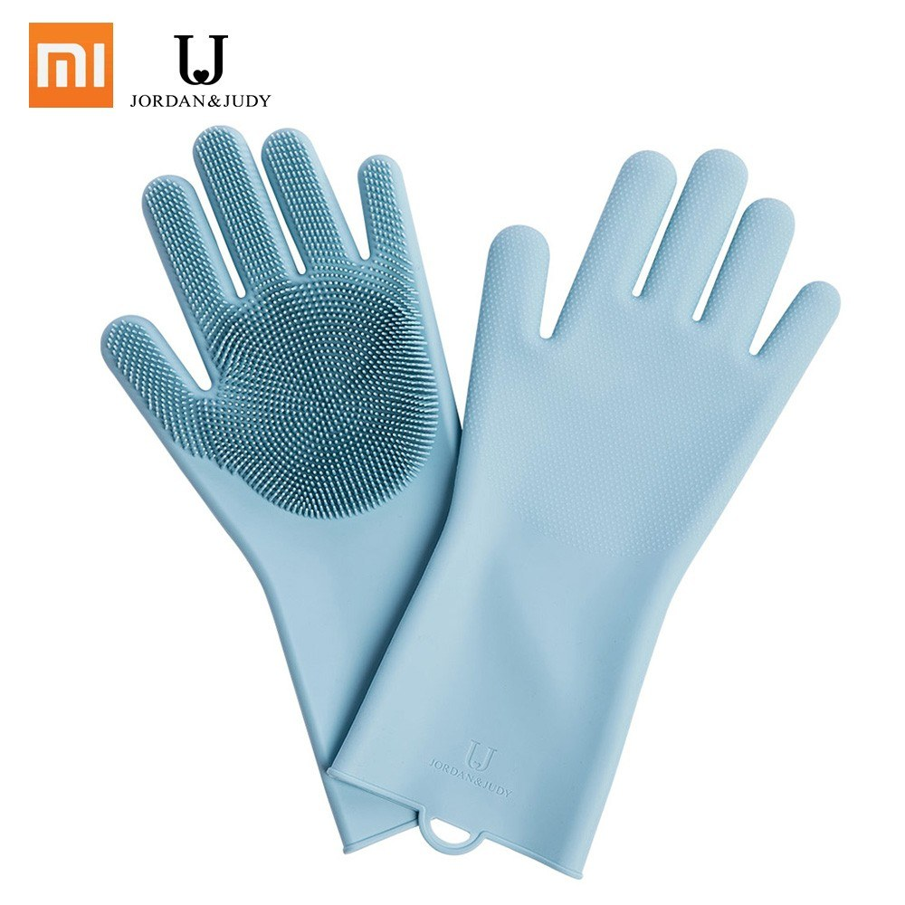 Xiaomi Magic Silicone Cleaning Gloves Insulation Non-slip Dishwashing Glove Double-sided Wear Gloves For Home Kitchen