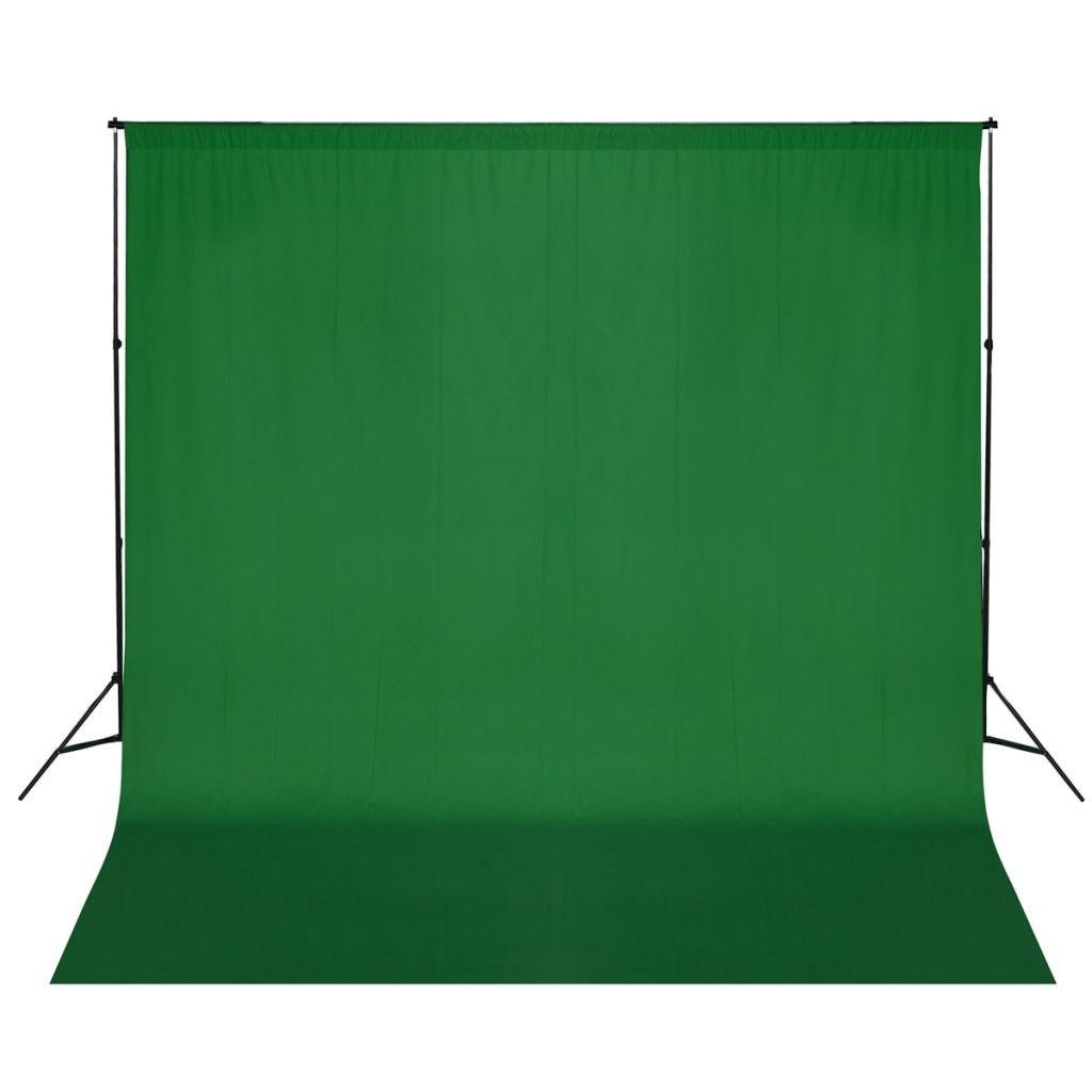 Portafondali photographic XL 6,0 x 3,0 m. + Green backdrop photo