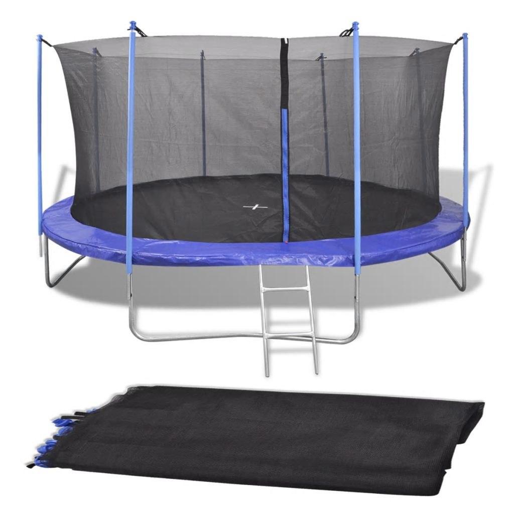Round Safety Net for Trampoline 4.57 m PE Black