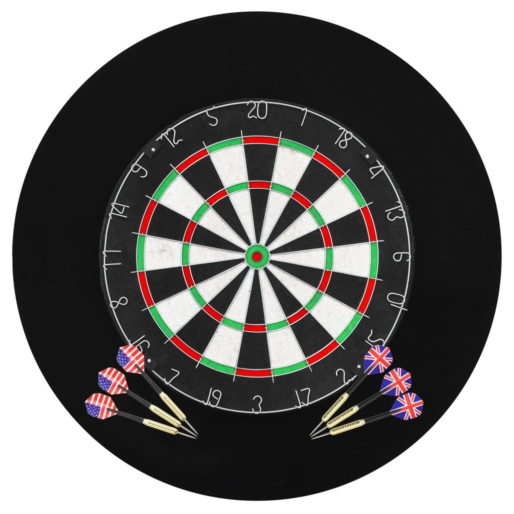 Professional Dartboard Sisal with 6 darts and surround