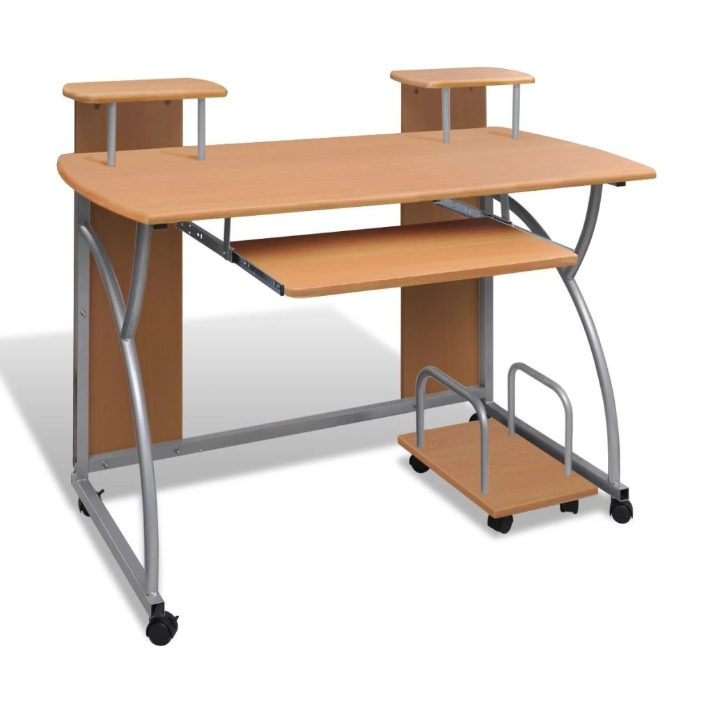 Removable tray computer desk Office Brown Student