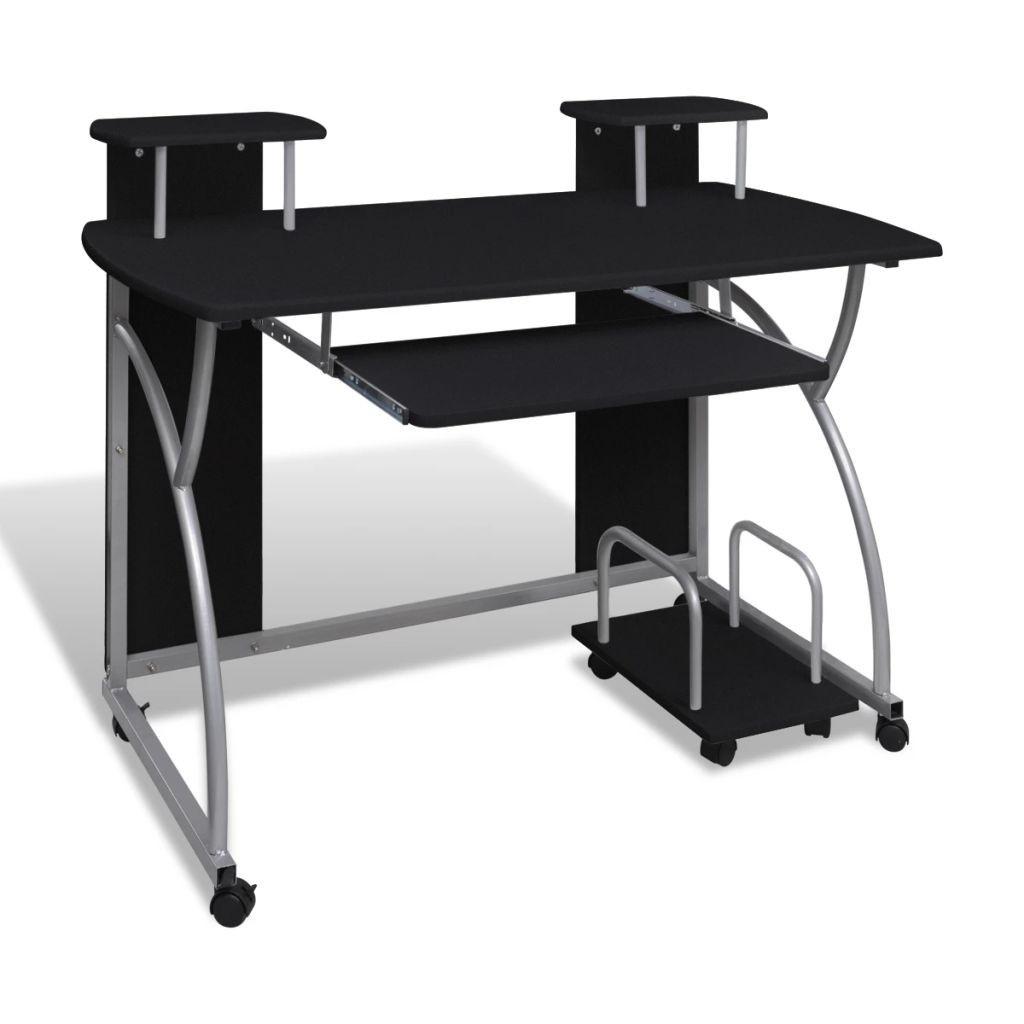 Desktop Computer Removable Tray Black Student Office
