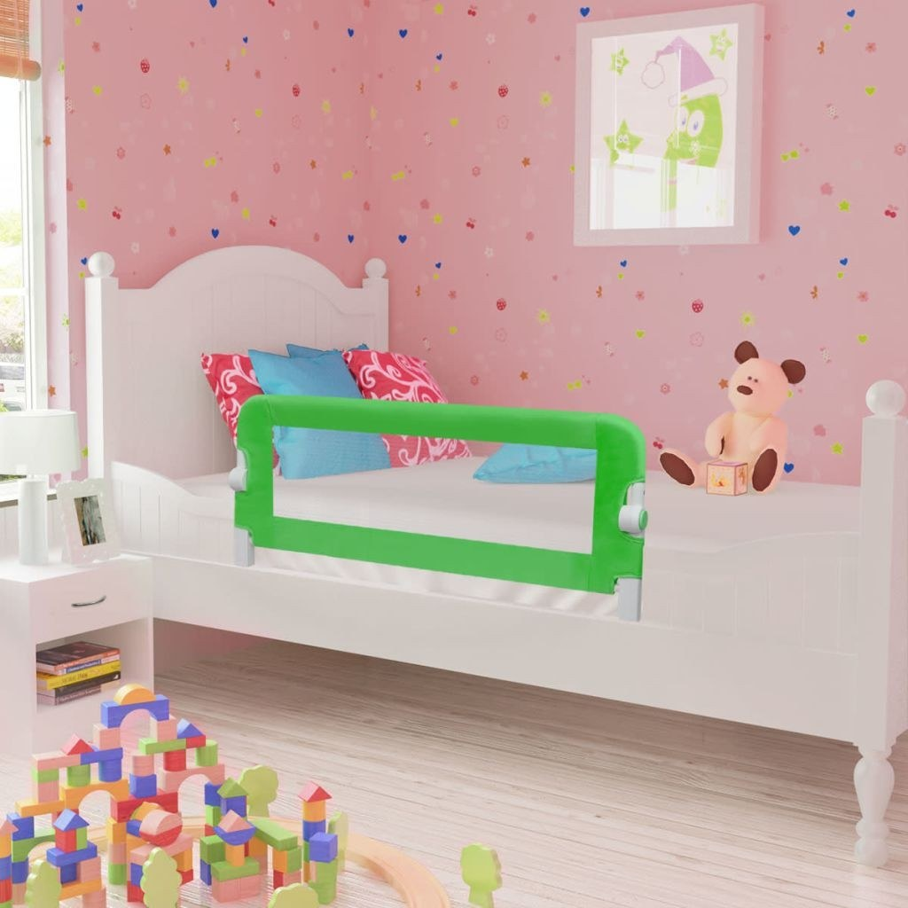 Safety barrier for baby bed 102 x 42 cm green