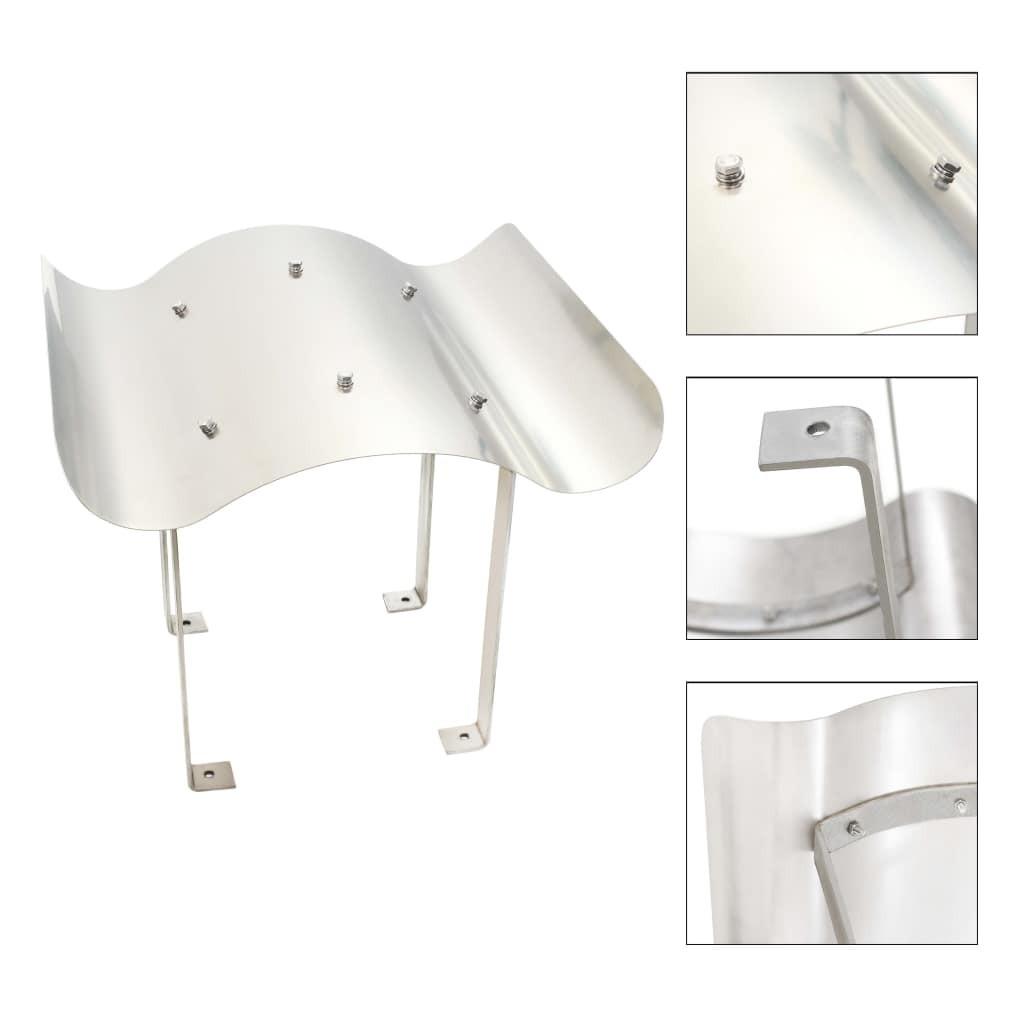 Chimney hood stainless steel silver