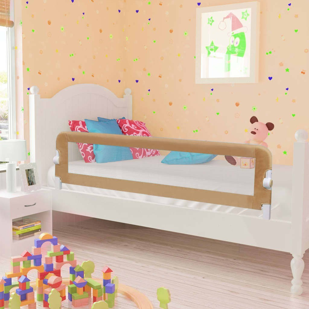 Shores Safety Bed for Children Taupe 150x42cm Polyester