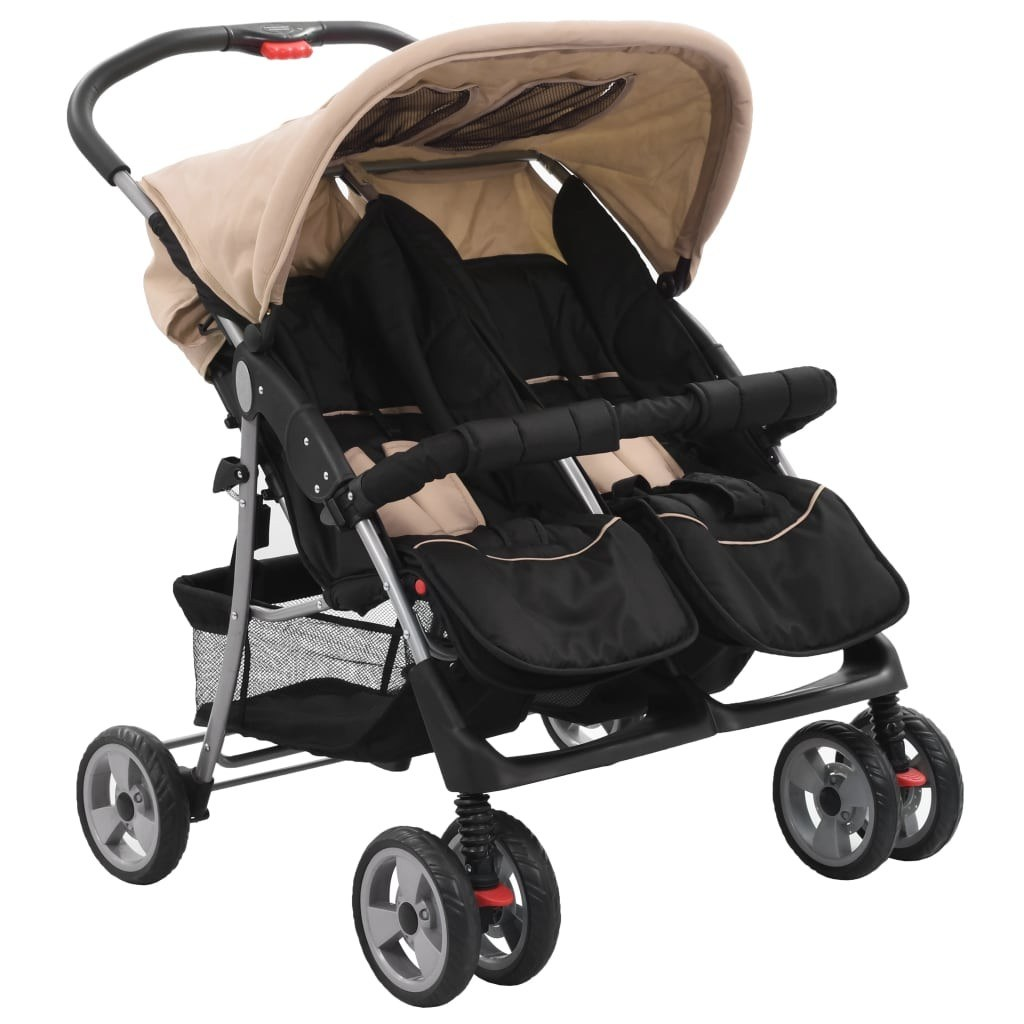Twin Gray and Black Steel Stroller