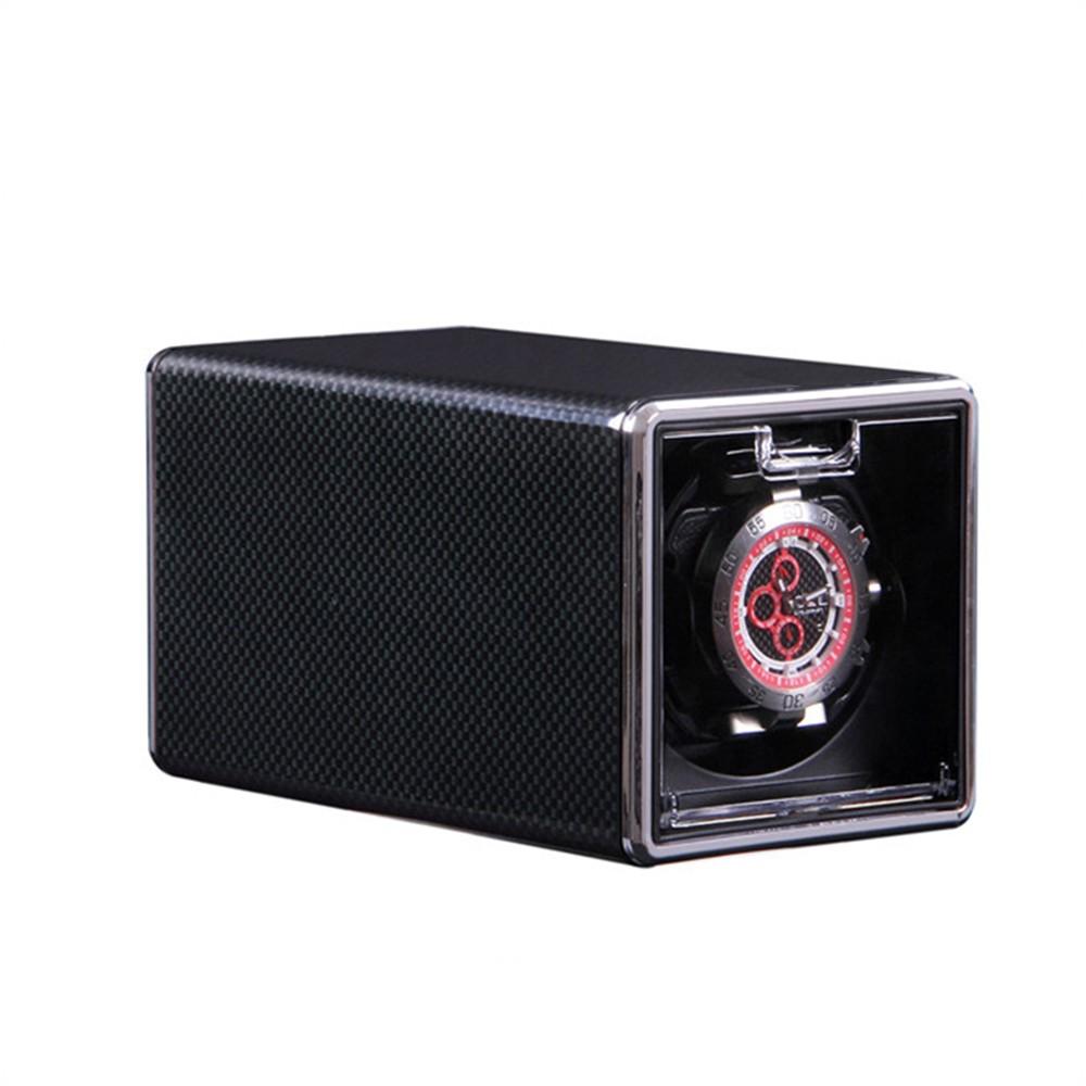 1301B Single Watch Winder Box for Automatic Watch 3 Modes Automatic Rotating Winder Rectangle Mute Box Mechanical Watch Winders