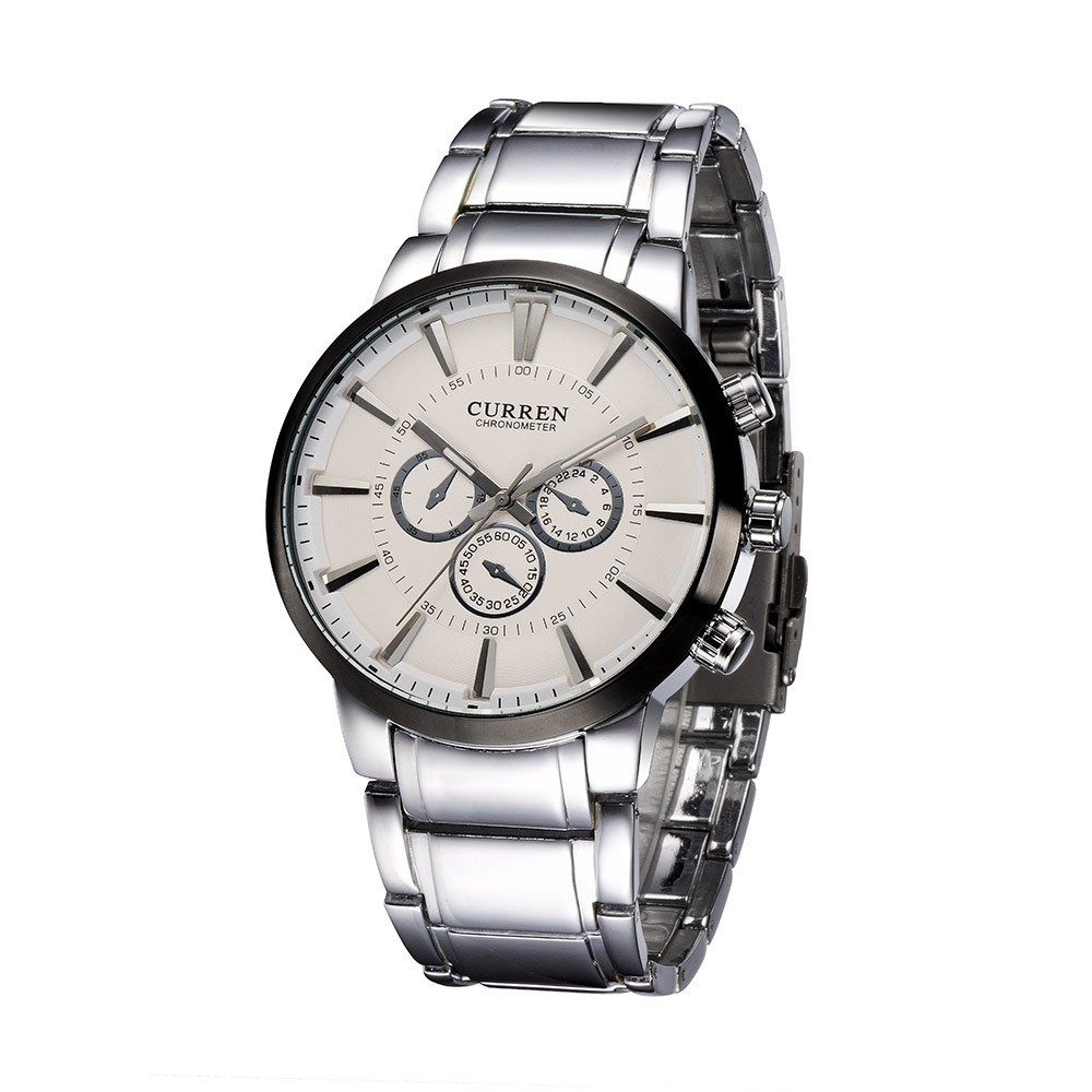 CURREN Fashion Casual Business Men Wristwatch Water Resistance High Quality Stainless Steel Band