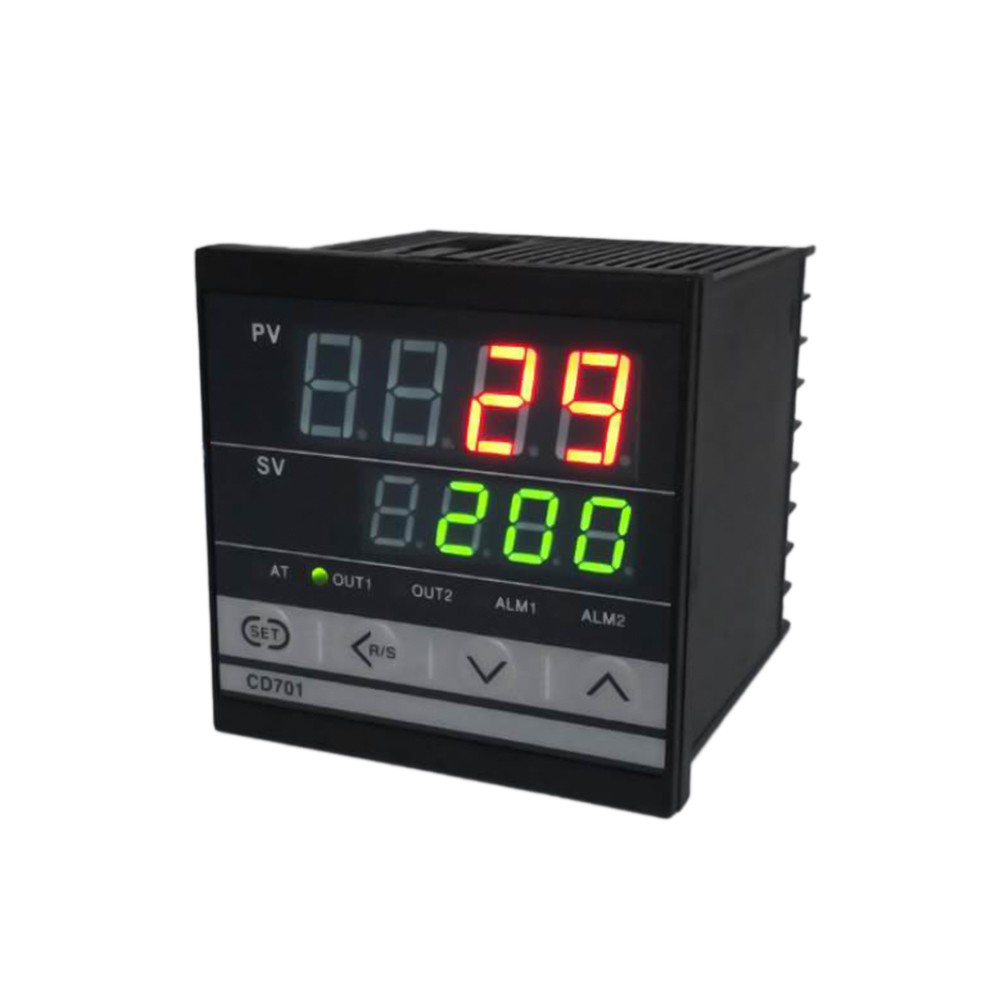 Digital PID dual display Temperature Controller Max Test Temperature 1372 Degree Thermoregulator with Alarm Relay Output CD701