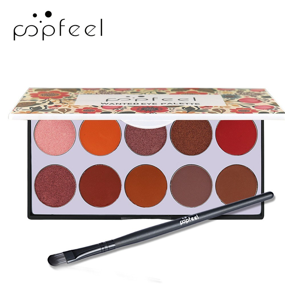 10 Colors Eye Shadow Disc Natural Easy Wearing Waterproof Metal Color Shimmer Matte Eyeshadow Palette Eye Makeup Accessories Charming Colorful Cosmetic