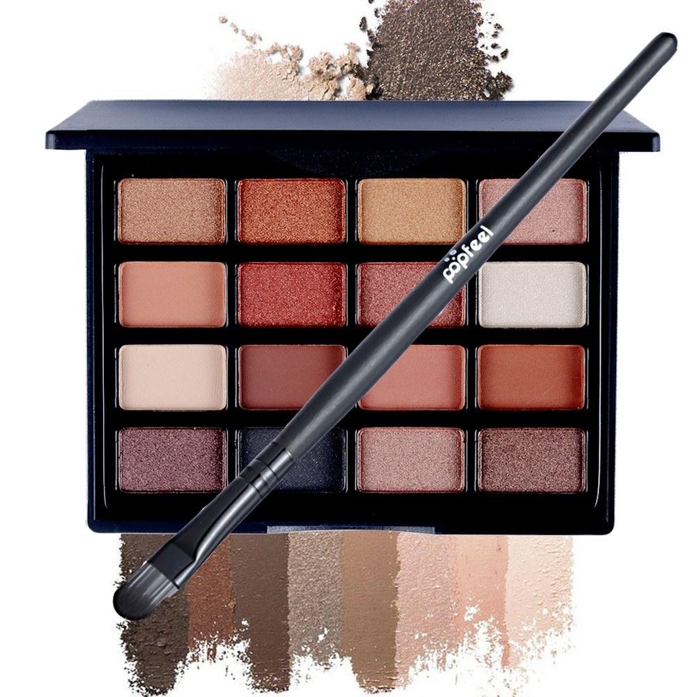 16 Colors Eye Shadow Disc Natural Easy Wearing Waterproof Metal Color Shimmer Matte Eyeshadow Palette Eye Makeup Accessories Charming Colorful Cosmetic