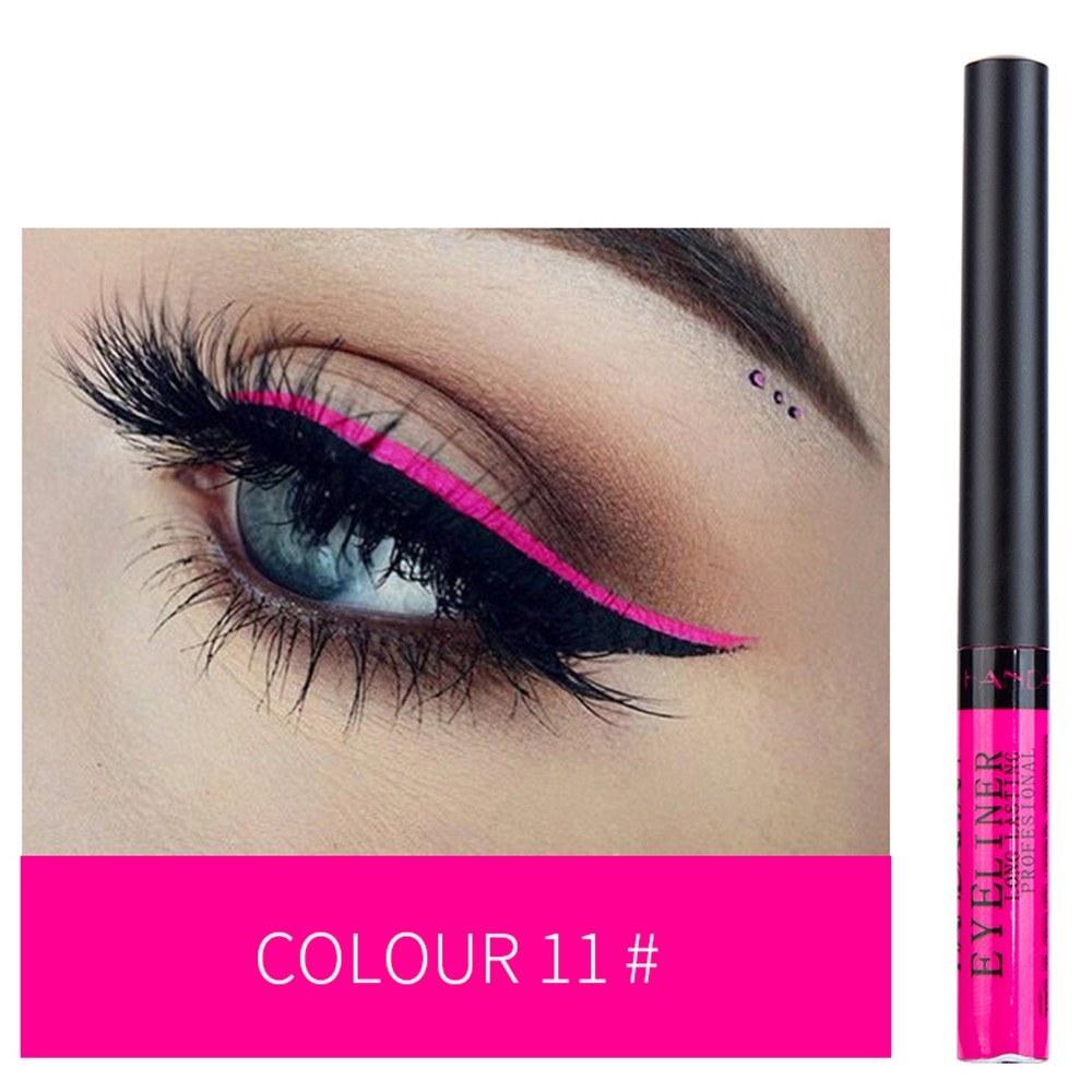 HANDAIYAN Colorful Liquid Eyeliner Matte Tint Long Lasting Waterproof Makeup Easy To Wear Eye Liner Liquid Eyeshadow Cosmetics Smooth Tool (11#)
