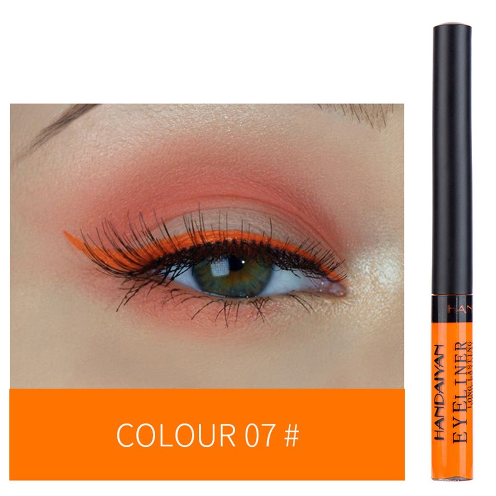 HANDAIYAN Colorful Liquid Eyeliner Matte Tint Long Lasting Waterproof Makeup Easy To Wear Eye Liner Liquid Eyeshadow Cosmetics Smooth Tool (7#)