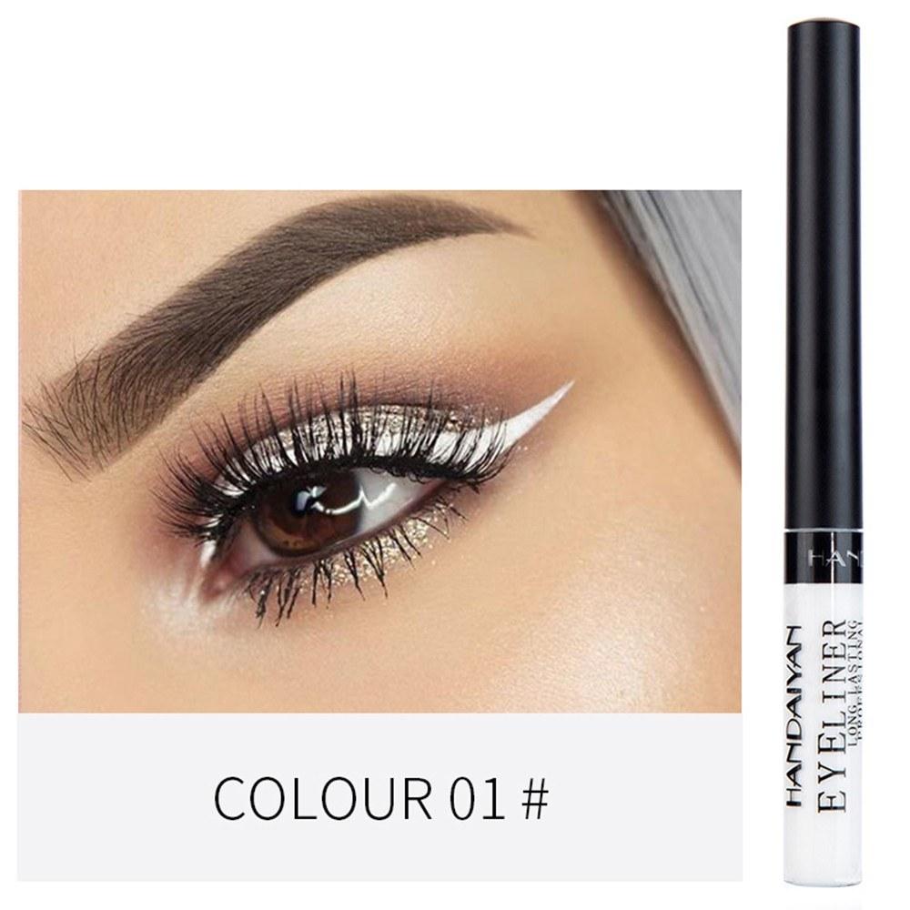 HANDAIYAN Colorful Liquid Eyeliner Matte Tint Long Lasting Waterproof Makeup Easy To Wear Eye Liner Liquid Eyeshadow Cosmetics Smooth Tool (1#)
