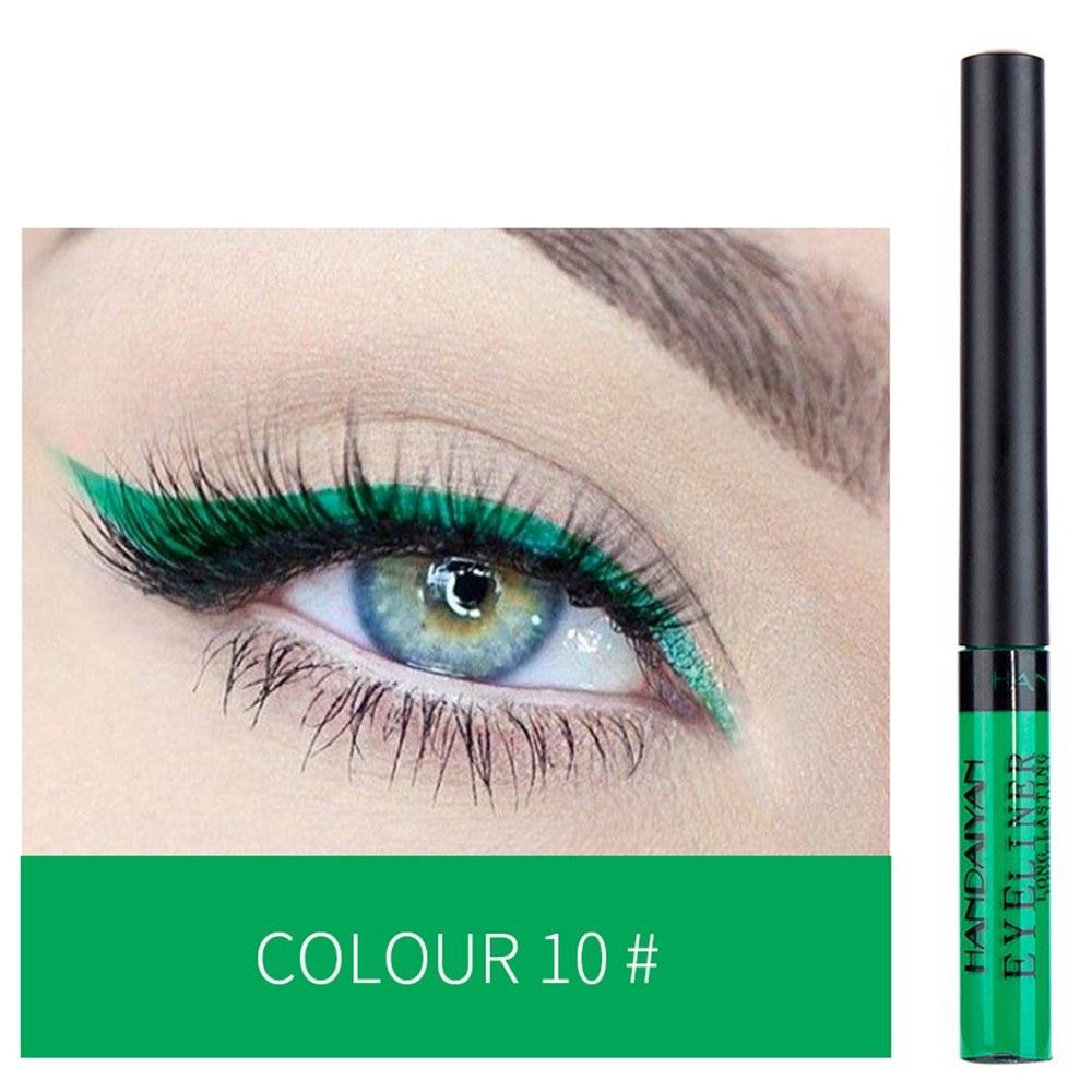 HANDAIYAN Colorful Liquid Eyeliner Matte Tint Long Lasting Waterproof Makeup Easy To Wear Eye Liner Liquid Eyeshadow Cosmetics Smooth Tool (10#)