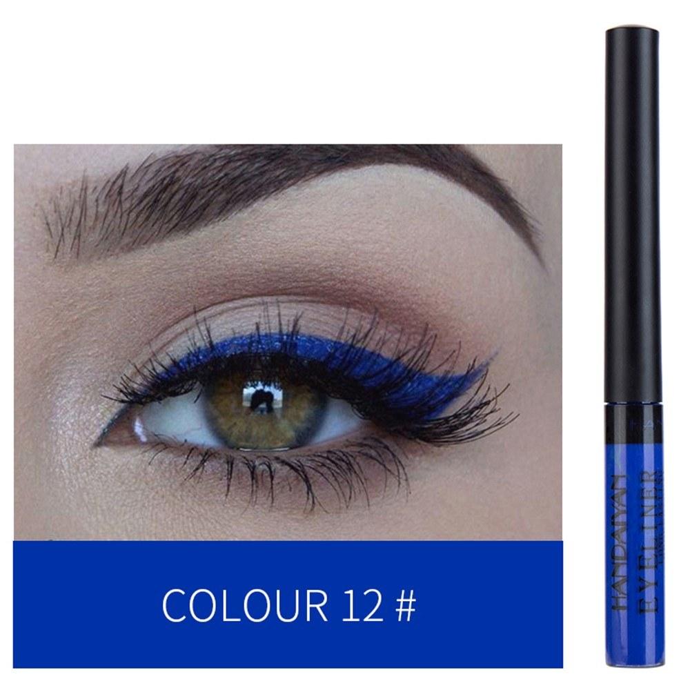 HANDAIYAN Colorful Liquid Eyeliner Matte Tint Long Lasting Waterproof Makeup Easy To Wear Eye Liner Liquid Eyeshadow Cosmetics Smooth Tool (12#)