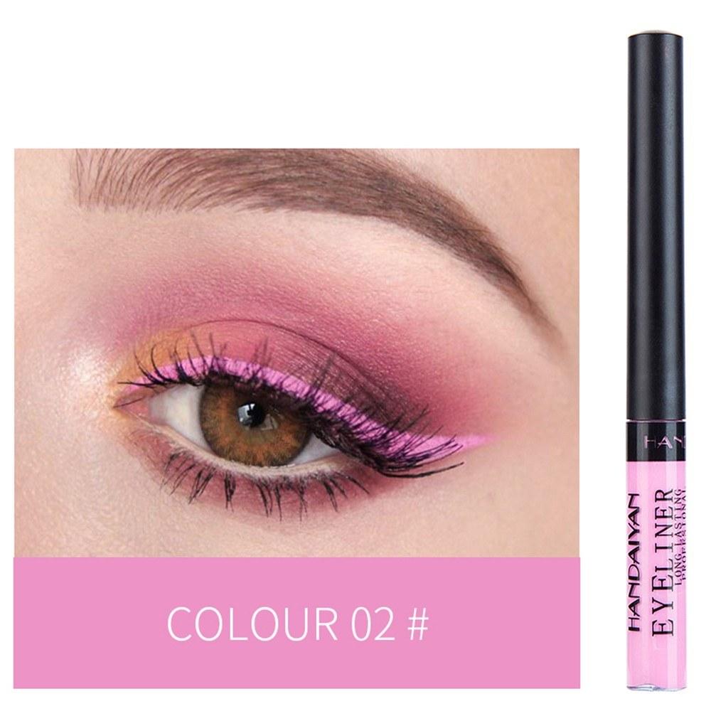 HANDAIYAN Colorful Liquid Eyeliner Matte Tint Long Lasting Waterproof Makeup Easy To Wear Eye Liner Liquid Eyeshadow Cosmetics Smooth Tool (2#)