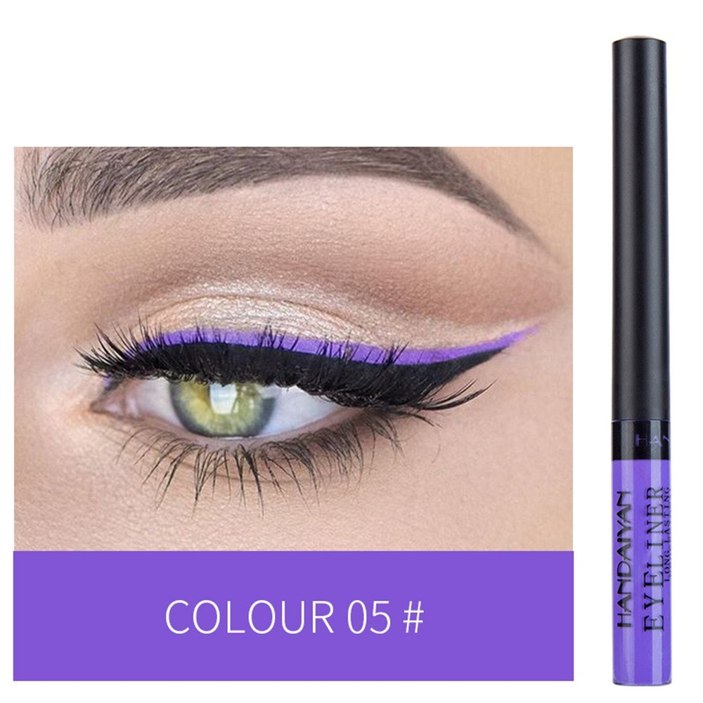HANDAIYAN Colorful Liquid Eyeliner Matte Tint Long Lasting Waterproof Makeup Easy To Wear Eye Liner Liquid Eyeshadow Cosmetics Smooth Tool (5#)