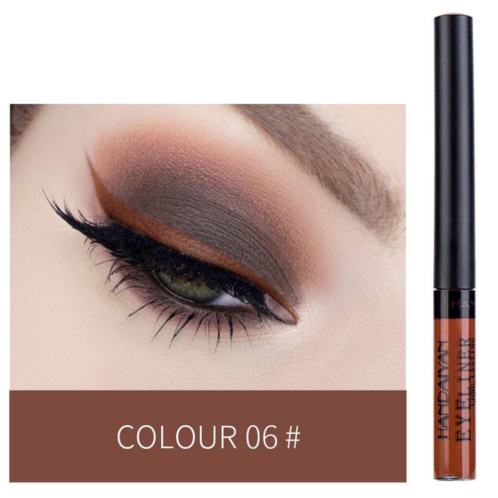 HANDAIYAN Colorful Liquid Eyeliner Matte Tint Long Lasting Waterproof Makeup Easy To Wear Eye Liner Liquid Eyeshadow Cosmetics Smooth Tool (6#)
