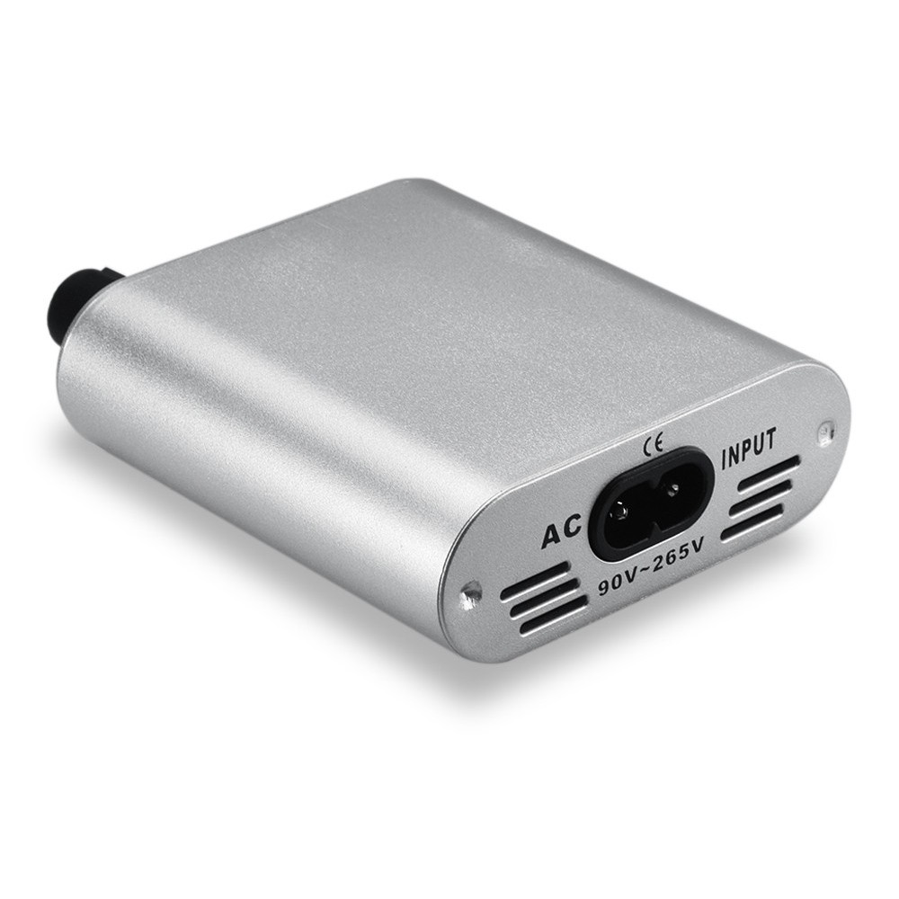 Professional Silvery Tattoo Power Supply Tattoo Power Pack Plastic Mini Power Supply Tattoo Accessory Portable