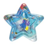 Baby Star Shaped Colorful Inflatable Water Play Mat Tummy Time Infant Fun Mat Child Development Play Center with Hand Inflator Pump