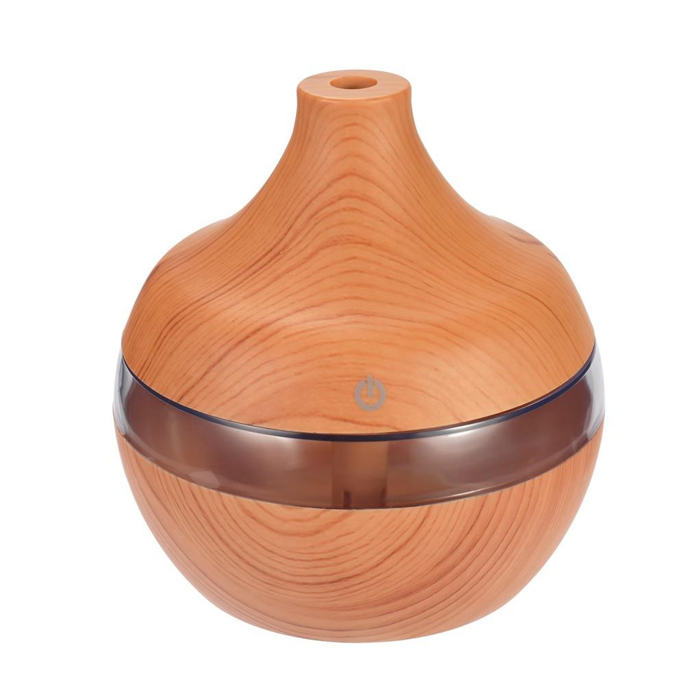 USB Wood-grain LED Night Lamp Humidifier Mini Ultrasonic Static Air Purifier Aromatherapy Machine