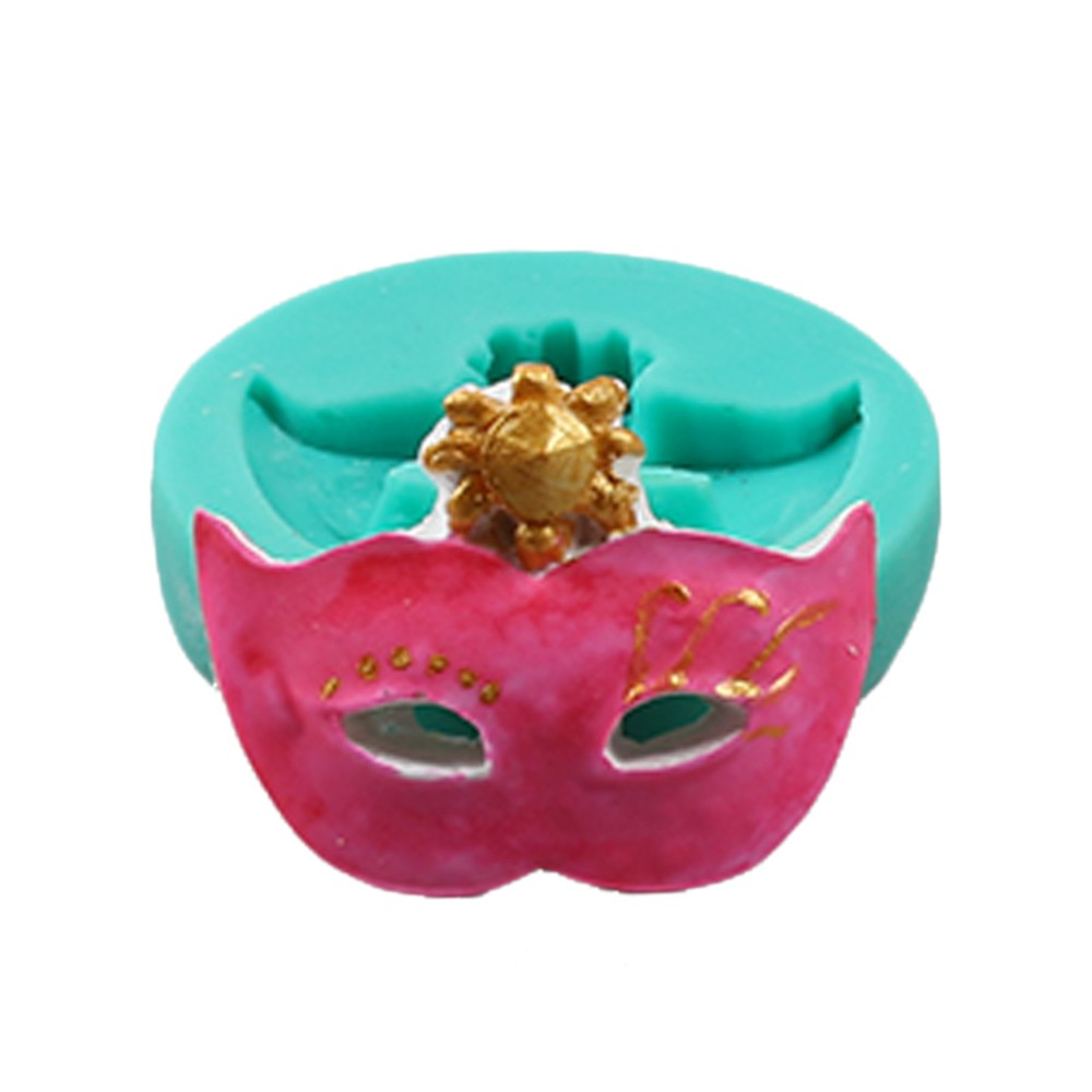 Party Mask Shape Silicone Cake Topper Decor Mold Fondant Decorating Chocolate DIY Biscuit Sugarcraft Polymer Clay