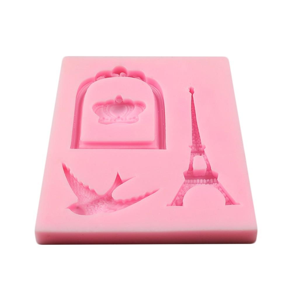 1Pcs Tower Silicone Wedding Cake Decoration Mold Candy Fondant Decorating Chocolate DIY Baking Tool Sugarcraft