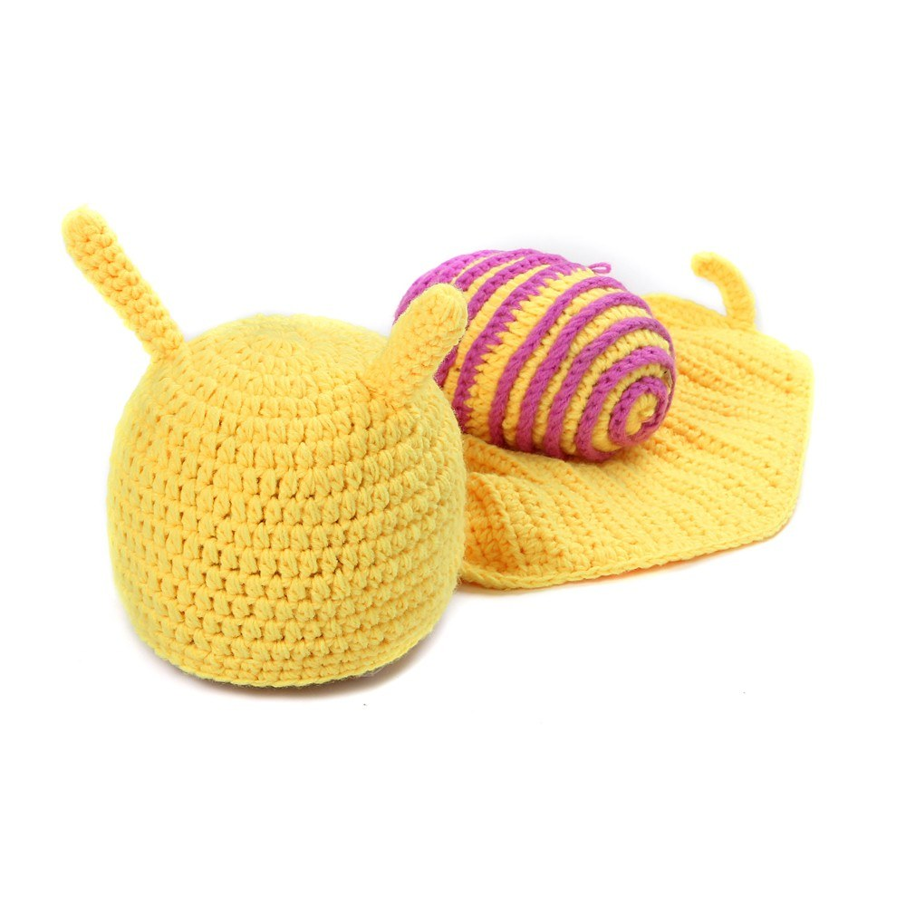 Newborn Baby Photography Props Girl Boy Cute Snail Costume Outfits Photo Shoot Prop Accessories Pink