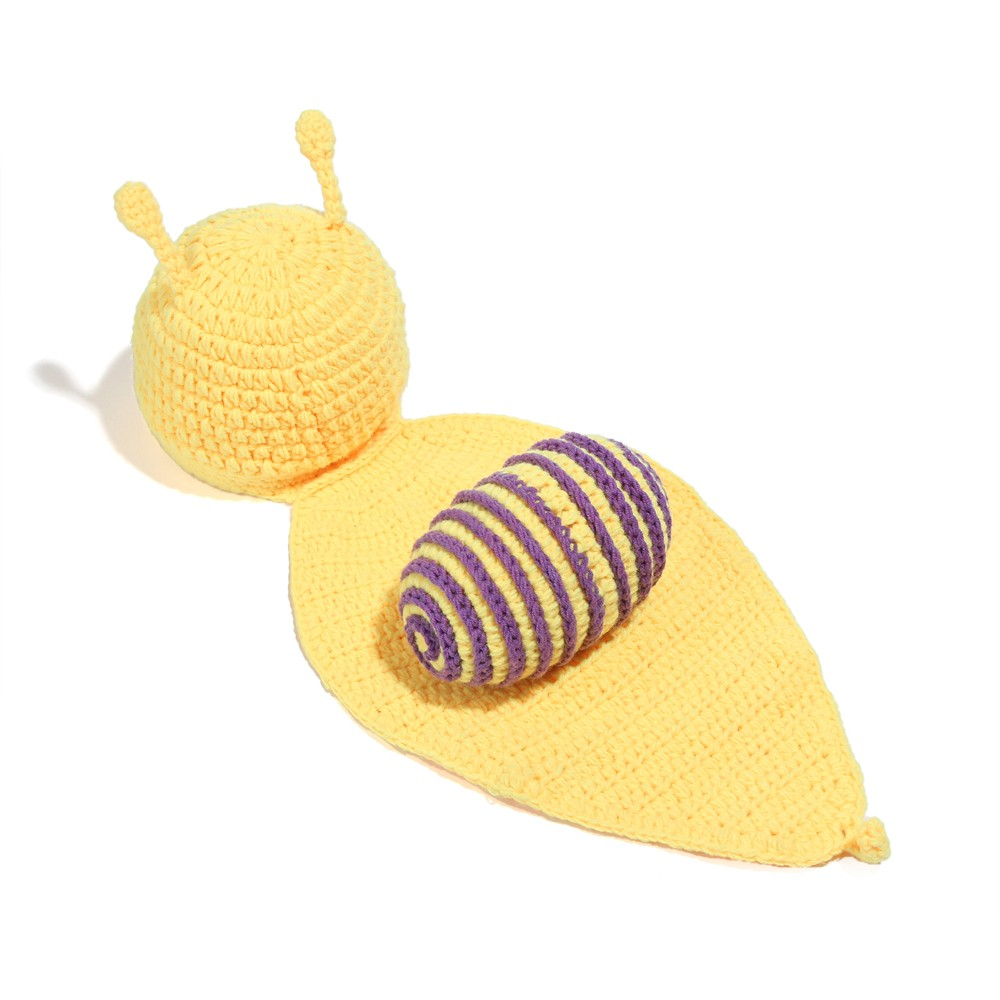 Newborn Baby Photography Props Girl Boy Cute Snail Costume Outfits Photo Shoot Prop Accessories Purple