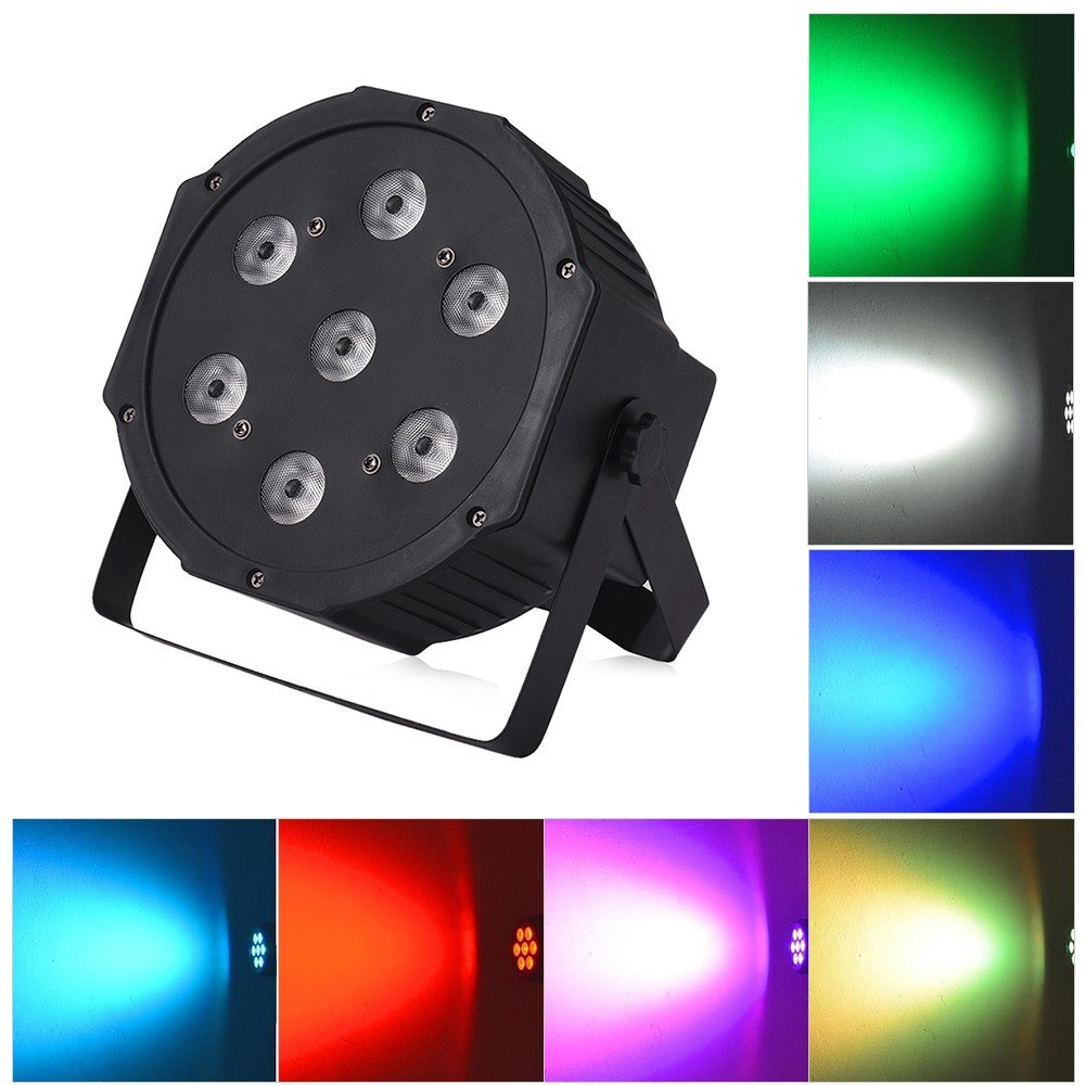 Stage Light LED PAR Light 7 LEDs 4 in 1 RGBW DMX512 8/5 Channels with Remote Control for KTV Club Bar Party DJ Show Bands
