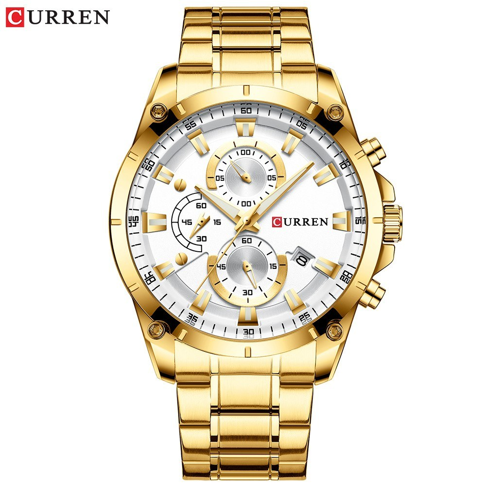 Curren Men Watch Business Multifuntional Waterproof Watches Quartz Watch