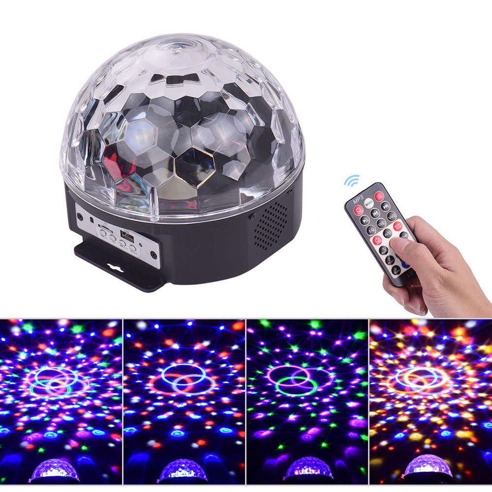 Stage Light MP3 BT LED Magic Ball Light 9 colors with Remote Control for Disco Ball Party KTV Club DJ Stage