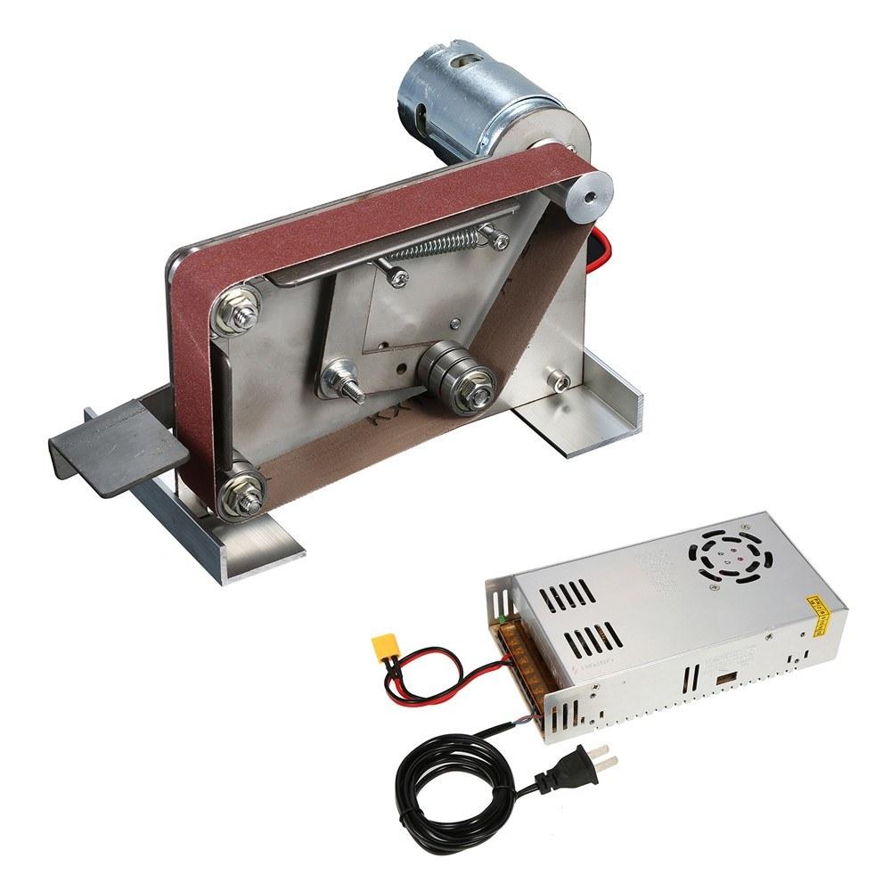 Multifunctional AC 110-240V Grinder Mini Electric Belt Sander DIY Polishing Grinding Machine Cutter Edges Sharpener