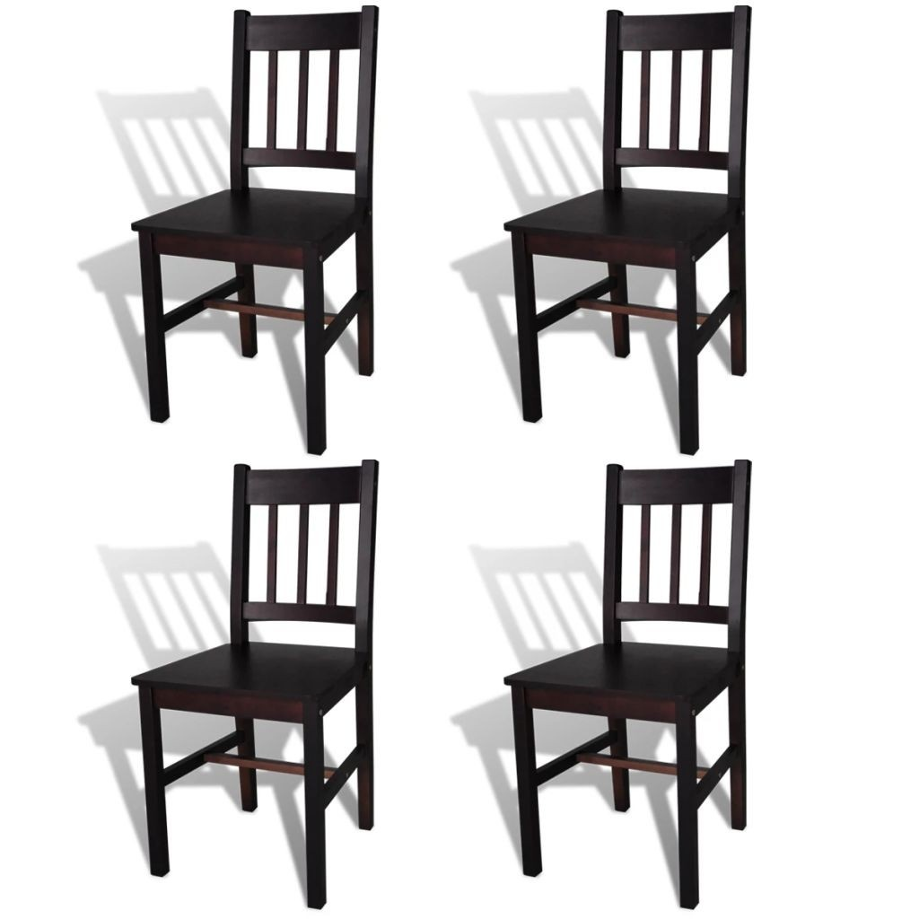 brown wooden board 4 pcs Chair